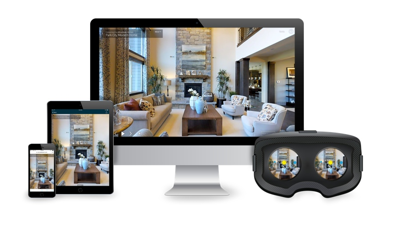 Matterport runs on desktops, mobile systems, and VR headsets.