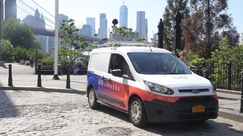 One of Carmera's mapping vehicles