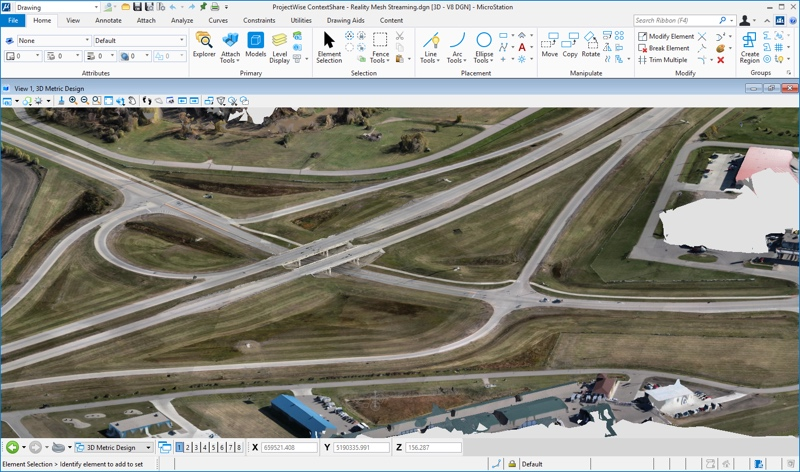 Share and consume engineering-ready reality data within Bentley software solutions using ProjectWise ContextShare cloud service. Image courtesy of Bentley Systems