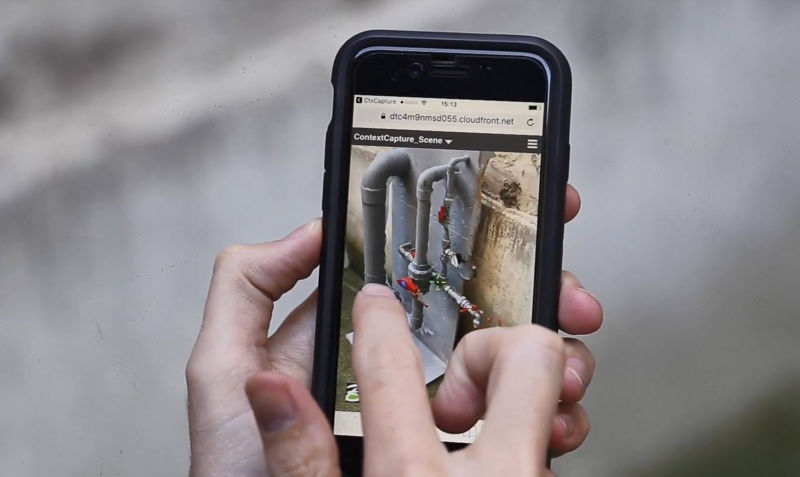 An image of an accurate 3D engineering-ready reality mesh using the ContextCapture mobile application. Image courtesy of Bentley Systems
