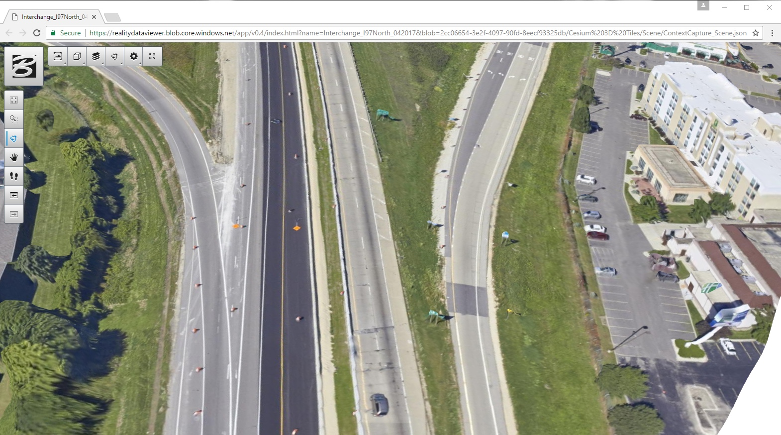 Share and consume engineering-ready reality data using the ContextCapture web application within ProjectWise ContextShare cloud service. Image courtesy of Bentley Systems