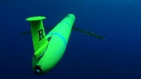 Gliders generate forward motion using battery-powered ballast water pumps and lift from their wings. AUVAC image.