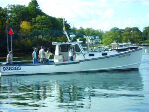 After basically being rebuilt, the Salty Cod is ready to go back lobstering. Farrin's Boatshop photo.