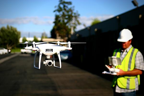 Surveyor using drone