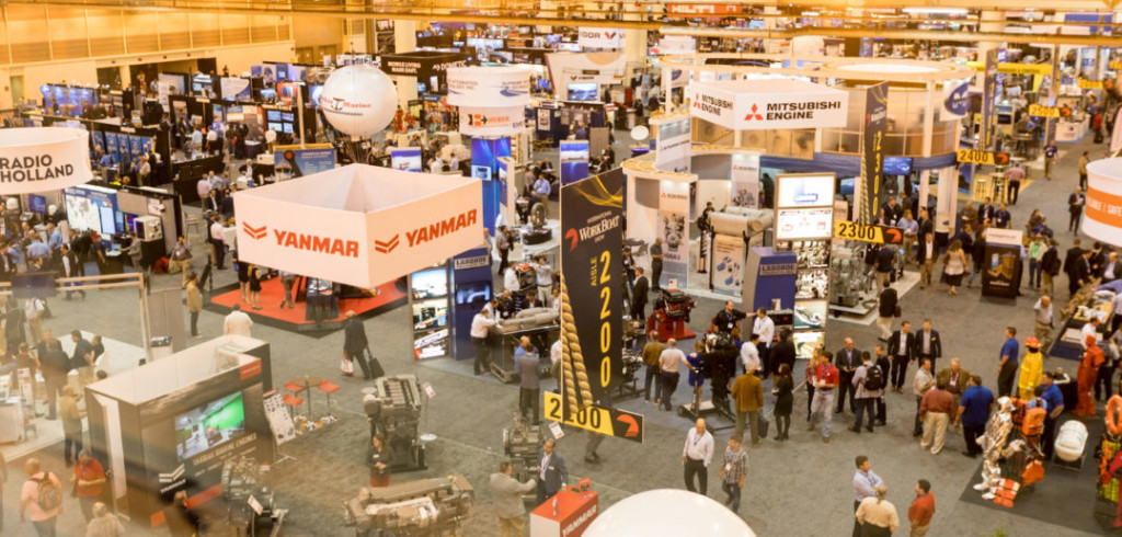 Looking down on the IWBS show floor