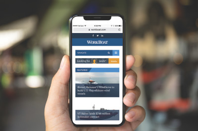 mobile phone with workboat.com