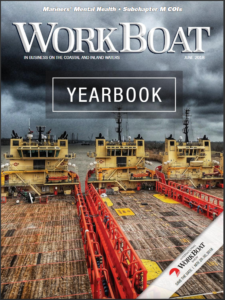 Cover of WorkBoat magazine's Yearbook issue.